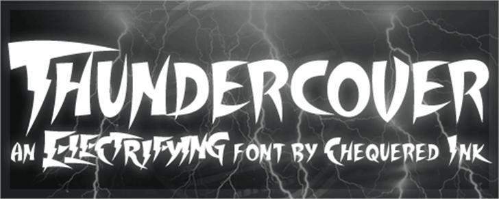 Thundercover Font lightning typography