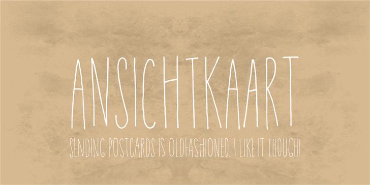Ansichtkaart DEMO Font handwriting typography