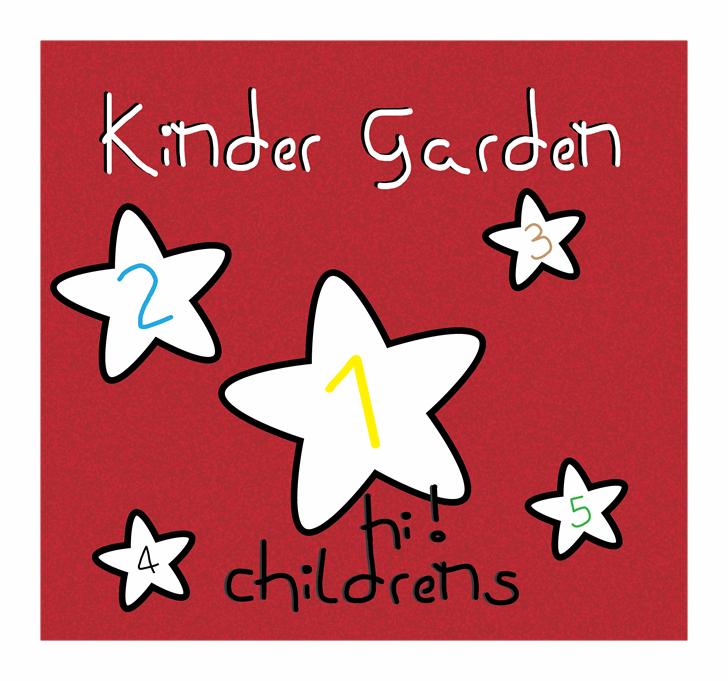 kinder garden Font cartoon design