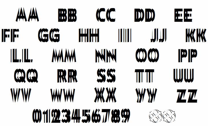DoubleVision Font Letters Charmap