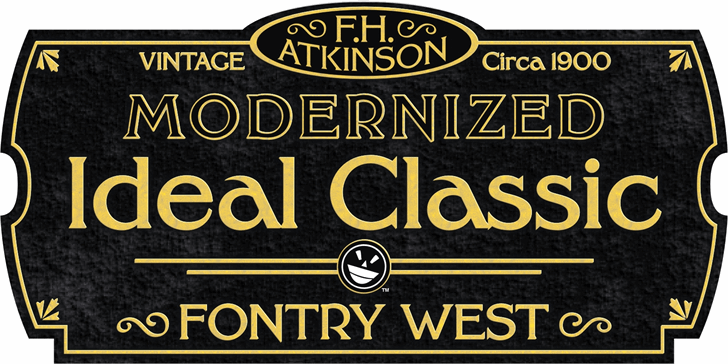 FHA Modernized Ideal ClassicNC font by the Fontry