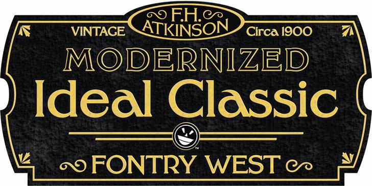 FHA Modernized Ideal ClassicNC Font poster black