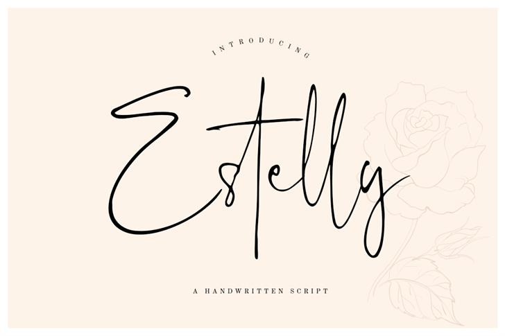 Estelly Font drawing handwriting
