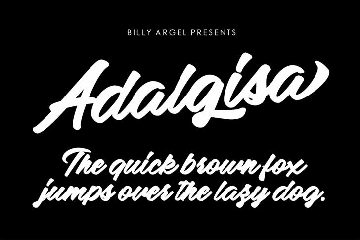 Adalgisa Personal Use Font design