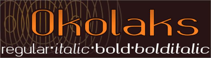 okolaks Font design poster