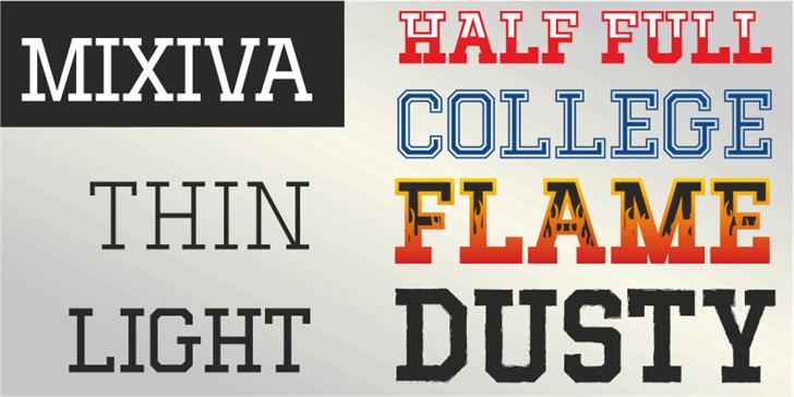 MIXIVA-DUSTY demo Font design text