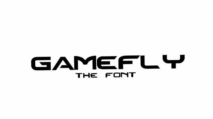 Gamefly Font design graphic