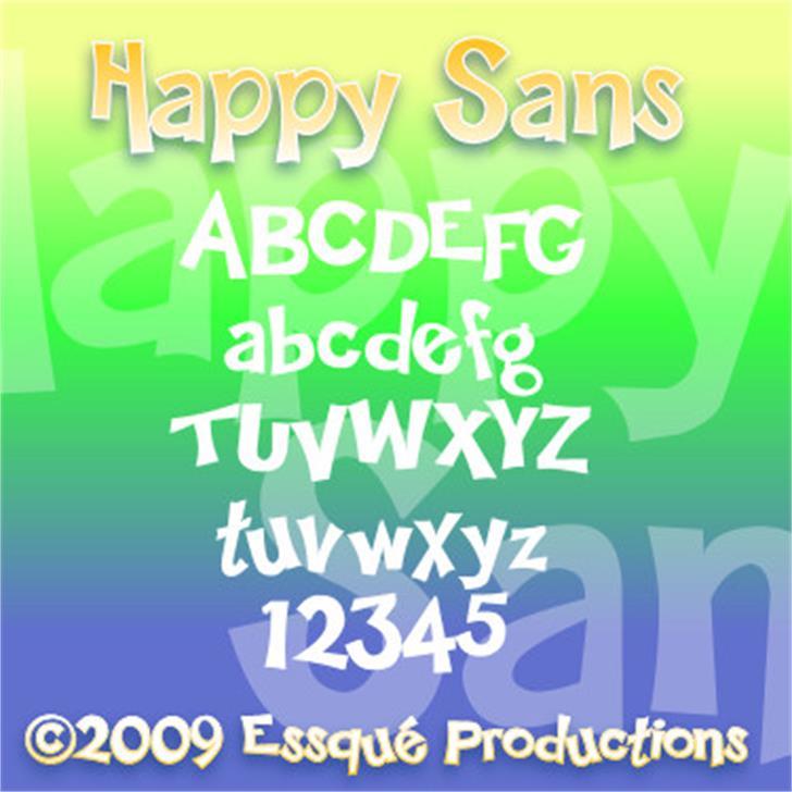 Happy Sans Font text screenshot