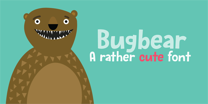 Bugbear DEMO Font cartoon design