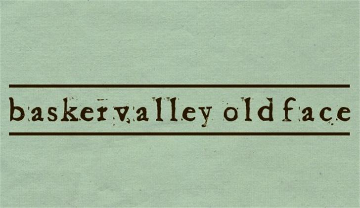 Baketvalley Old Face Font handwriting font