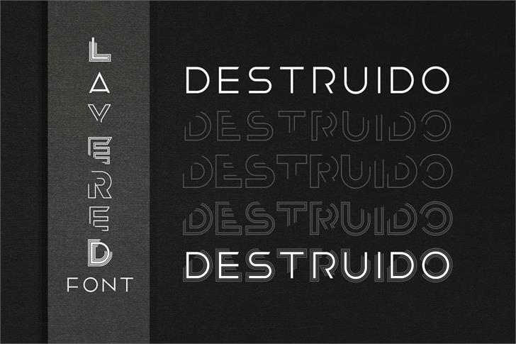 Destruido Font poster