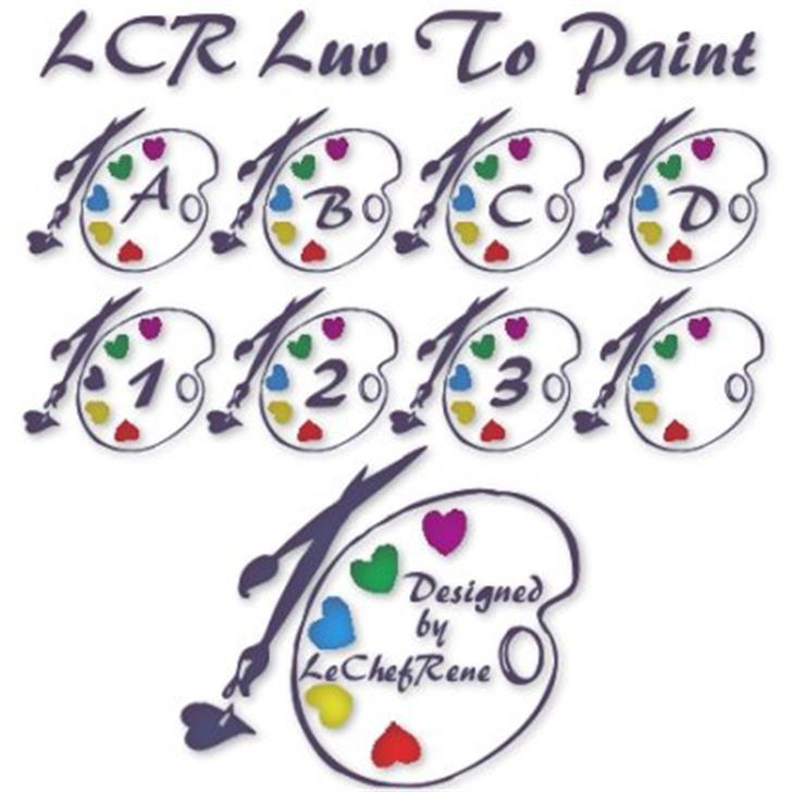 LCR Luv To Paint Font cartoon illustration