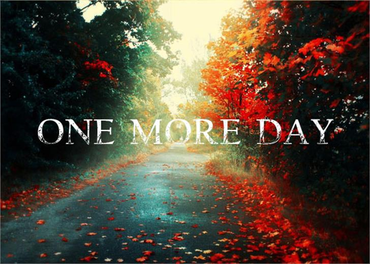 One more Day Font tree red