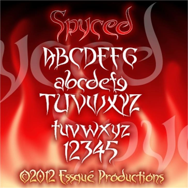 Spyced Font design text