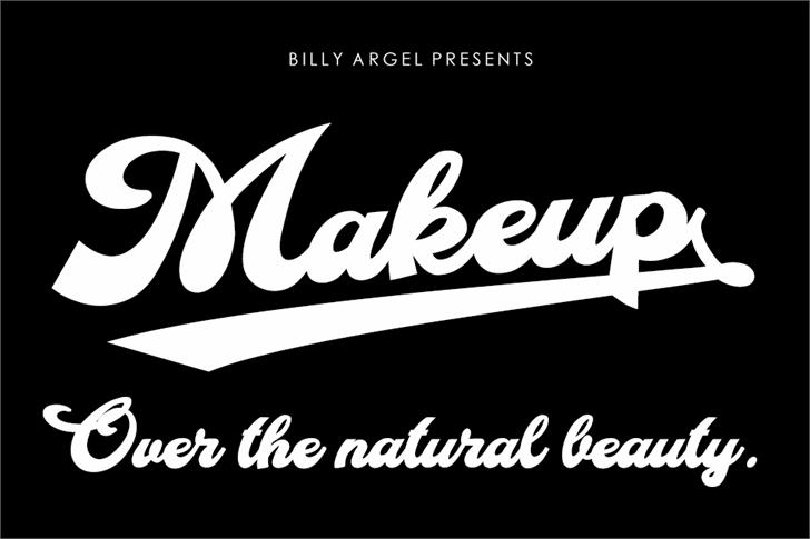 Makeup Personal Use Font design text