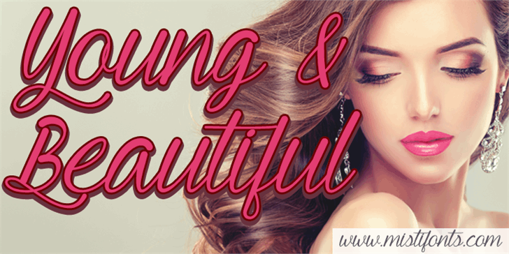Young & Beautiful Font person woman