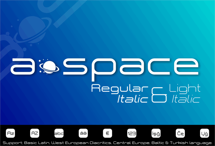 a•space Font screenshot design