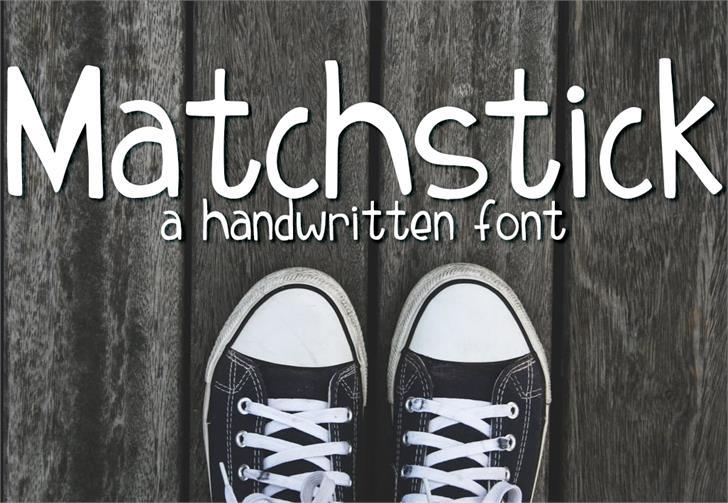 Matchstick Font book text