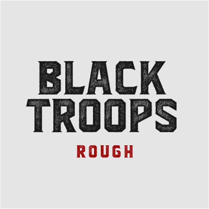 Blacktroops Rough Font poster design