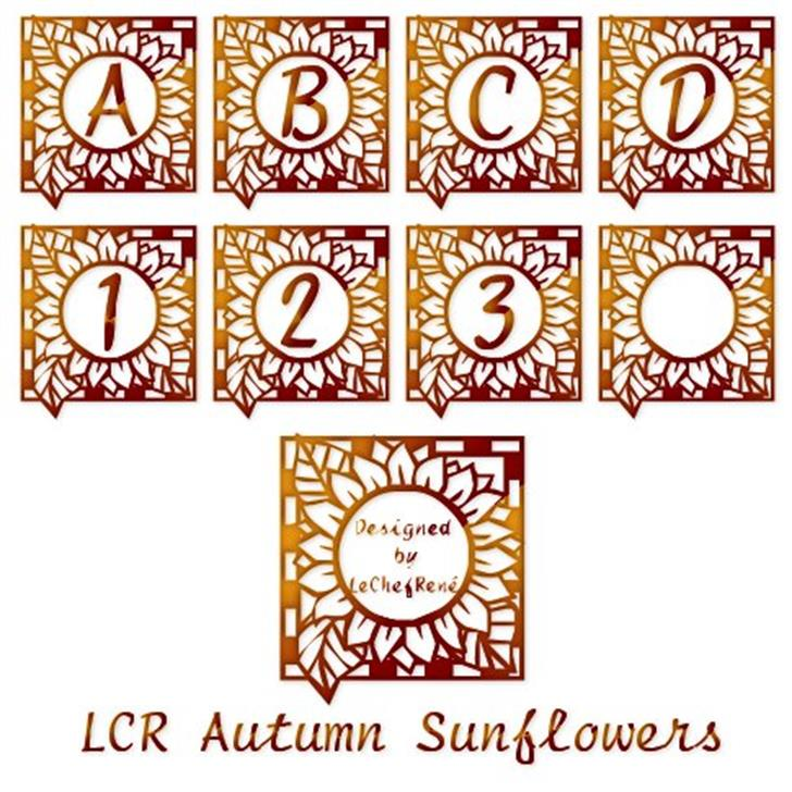 LCR Autumn Sunflowers Font text design