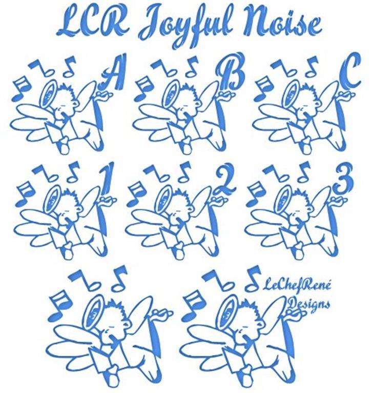 LCR Joyful Noise Font drawing handwriting