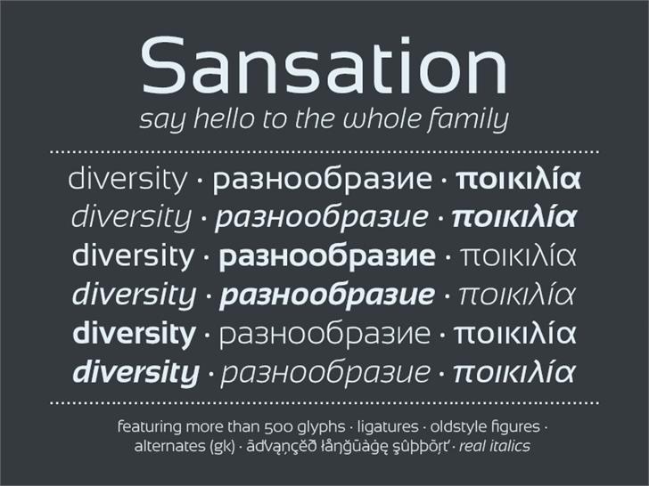 Sansation Font screenshot text