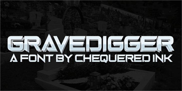 Gravedigger font by Chequered Ink