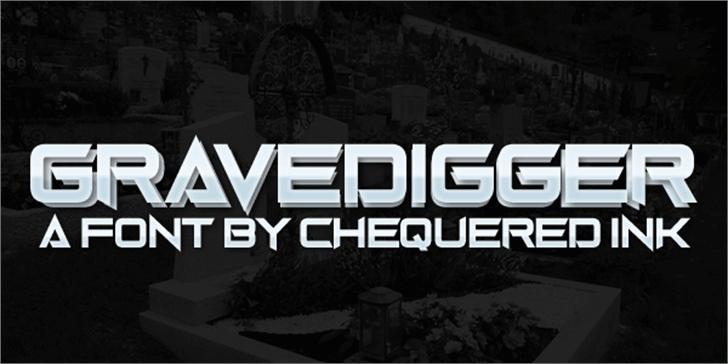 Gravedigger Font screenshot poster