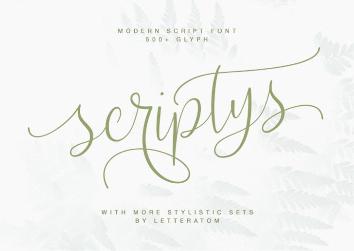 Scriptys Font poster