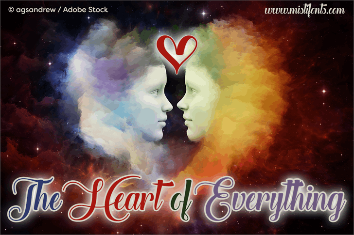 The Heart of Everything Demo font by Misti's Fonts