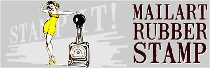 Mailart Rubberstamp Font cartoon sketch