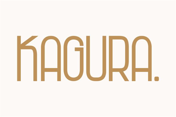 Kagura Font design logo