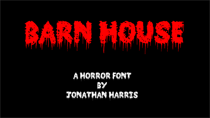 Barn House Font graphic poster