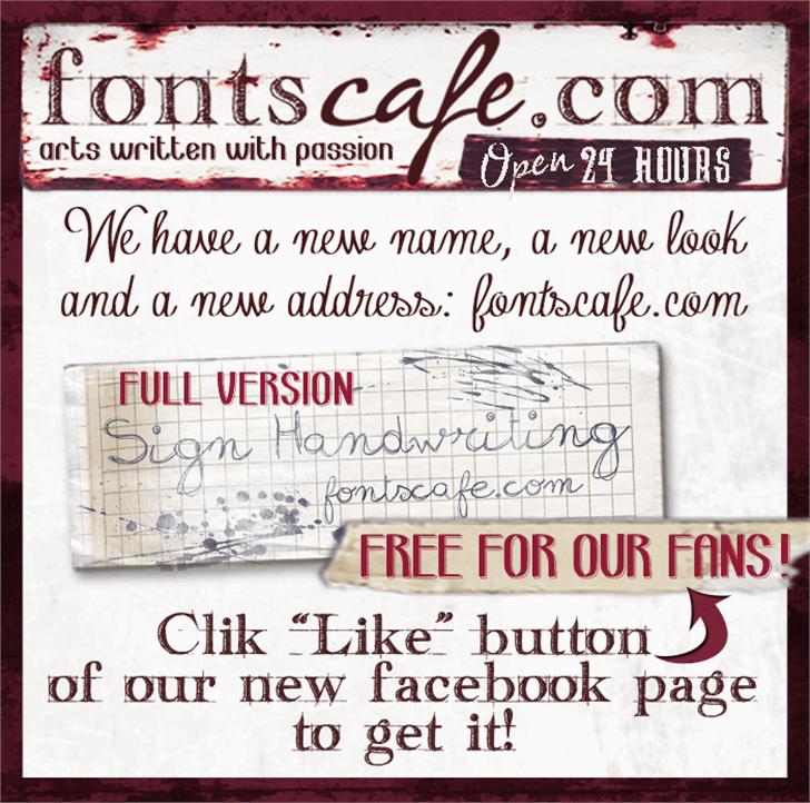 sign-handwritng_demo-version Font text newspaper