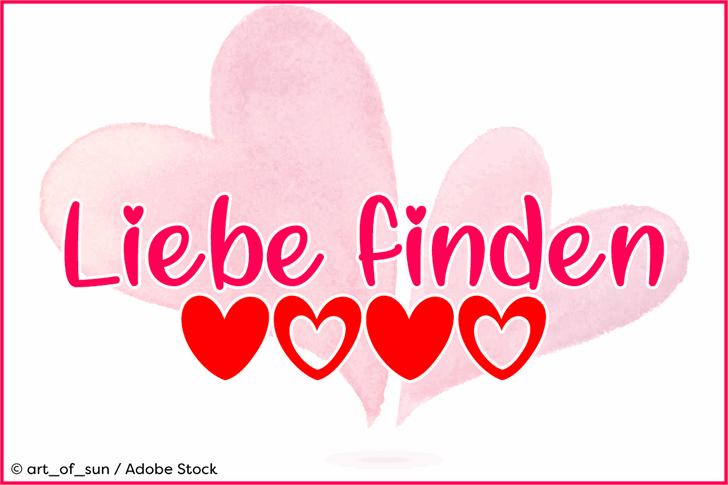 Liebe finden Font design graphic