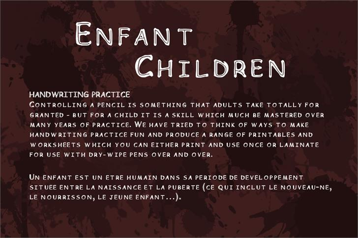 Children Font screenshot text