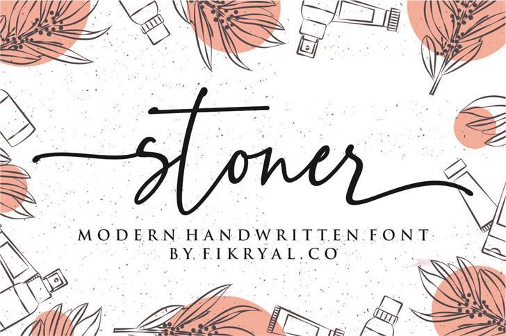 stoner Font poster