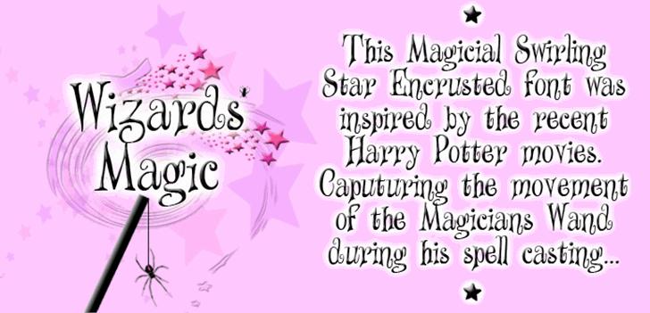 Wizards Magic Font cartoon text