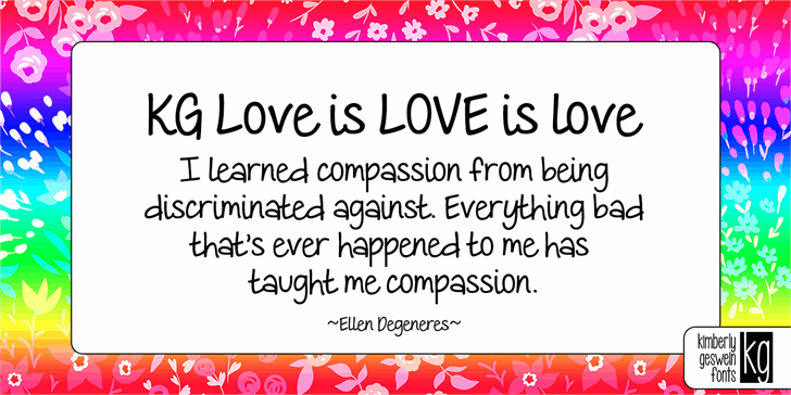 KG Love is LOVE is love Font design graphic