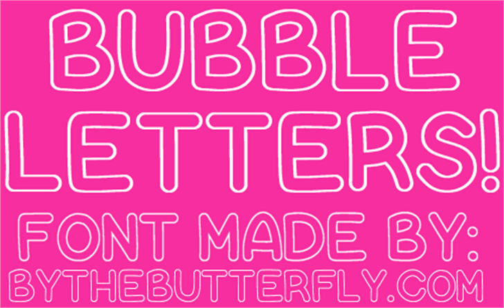 Bubble Letters font by ByTheButterfly