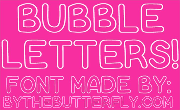 Bubble Letters Font design text