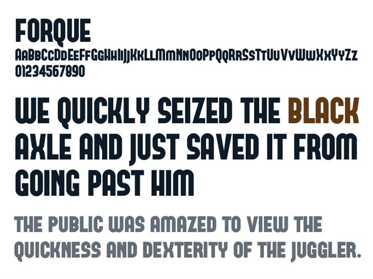 FORQUE font by Tup Wanders