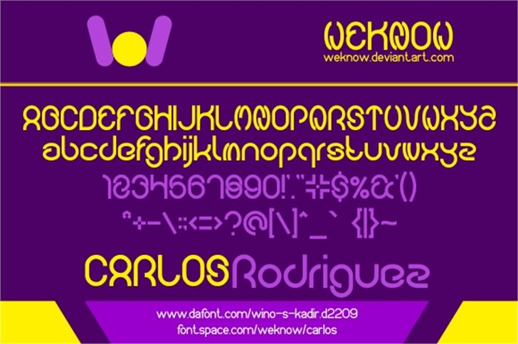 carlos Font screenshot design