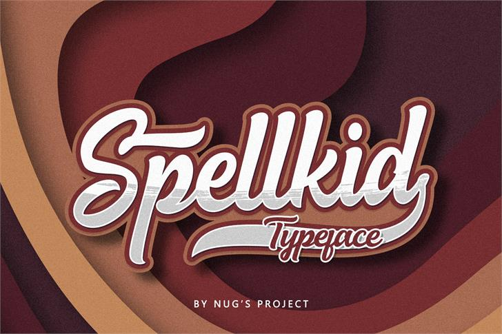 Spellkid Font poster
