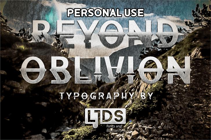 Beyond Oblivion Personal Use Font screenshot text
