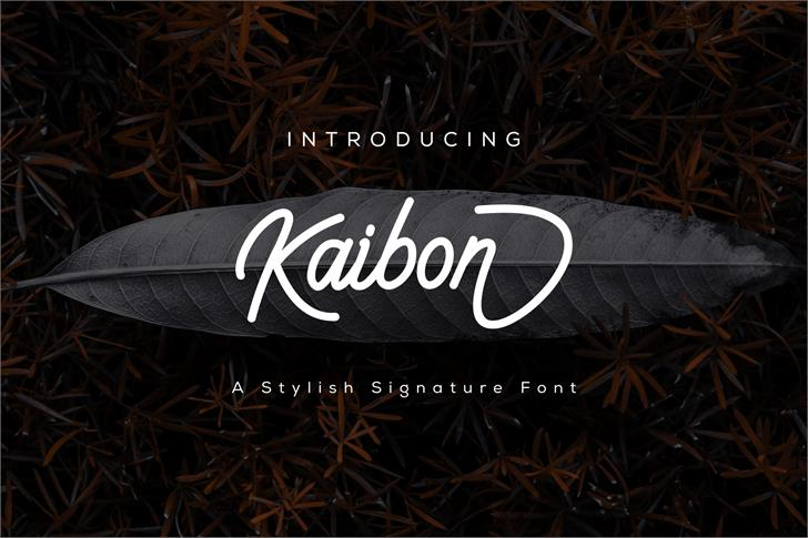 Kaibon Font design screenshot