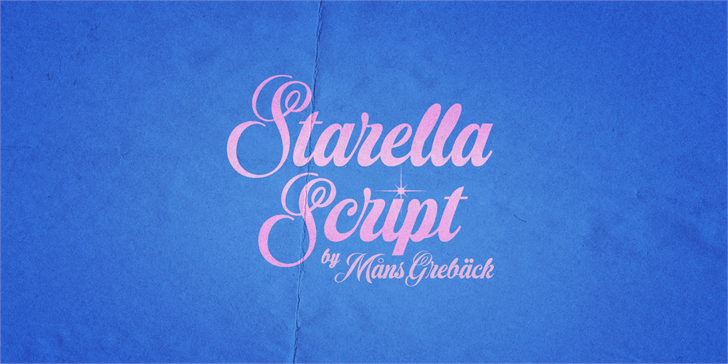 Starella Script PERSONAL USE Font handwriting typography