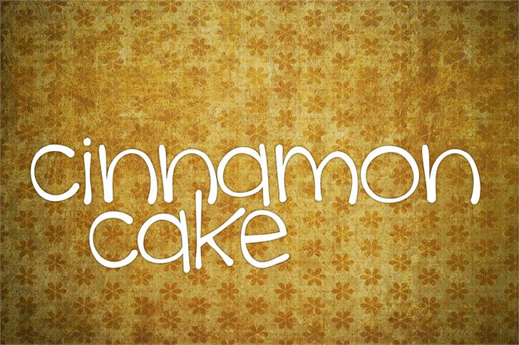 cinnamon cake font by Brittney Murphy Design