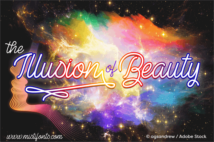 The Illusion of Beauty Font fireworks star
