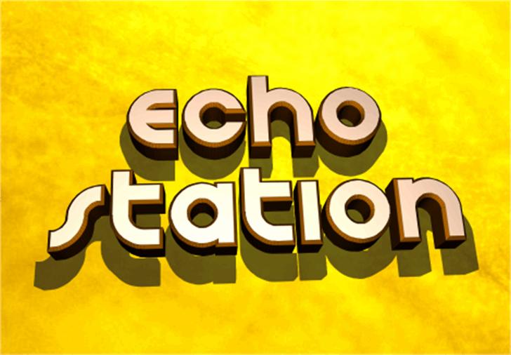 Echo Station Font screenshot typography